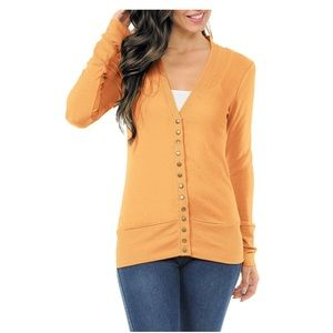 ZENANA OUTFITTERS SNAP BUTTON SWEATER CARDIGAN